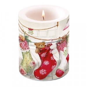 Duża Świeca Christmas Stocking