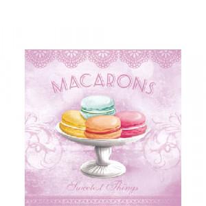 Papierowe Serwetki Macarons Rose