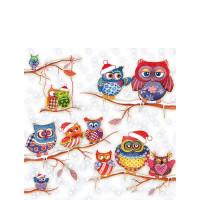 Papierowe Serwetki Owls In Winterland