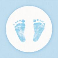 Papierowe Serwetki Baby Steps Boy