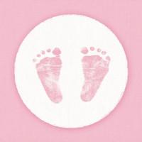 Papierowe Serwetki Baby Steps Girl