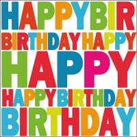 Papierowe Serwetki Birthday