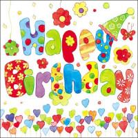 Papierowe Serwetki Happy Birthday