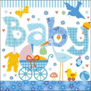 Papierowe Serwetki New Born Boy