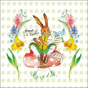 Papierowe Serwetki Easter Song Green