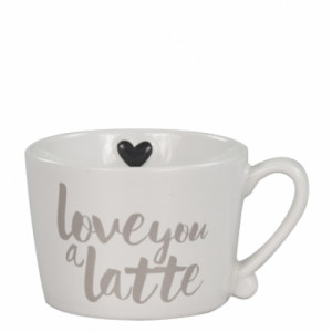 Kubek z Serduszkiem Love you a latte Bastion Collections