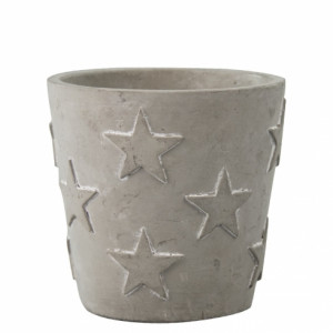 Doniczka Grey with Stars Bastion Collections