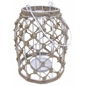 Lampion White Jute Knitted Bastion Collections