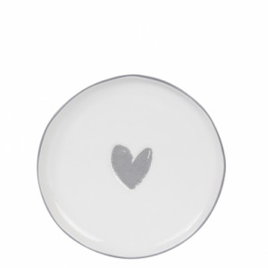 Talerzyk Tea Tip Heart Grey Bastion Collections
