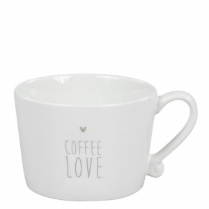 Kubek Z Serduszkiem Coffee Love Grey Bastion Collections