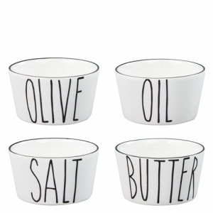 Miseczki Salt Butter Oil Olive Black Bastion Collections