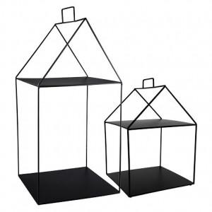 Metalowa Półka House Black Mała Bastion Collections