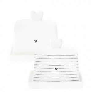 Maselniczka MINI Heart Stripes Black Bastion Collections