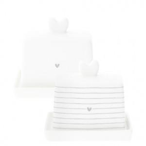 Maselniczka MINI Heart Stripes Grey Bastion Collections