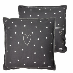 Poduszka Hearts Dark Grey Bastion Collections
