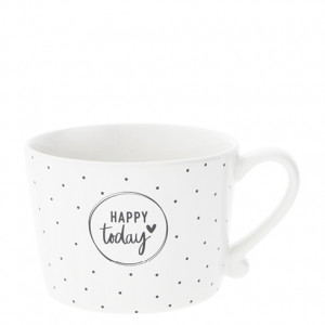Kubek Dots & Happy Today Black Bastion Collections