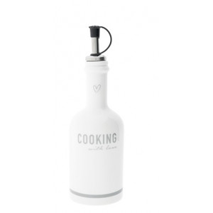Butelka Ceramiczna Cooking With Love Grey Bastion Collections