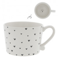 Kubek White Little Hearts Black Bastion Collections