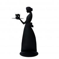 Metalowy Świecznik Lady Black Bastion Collections