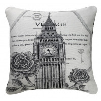 Poduszka BLACK AND WHITE VINTAGE BIG BEN