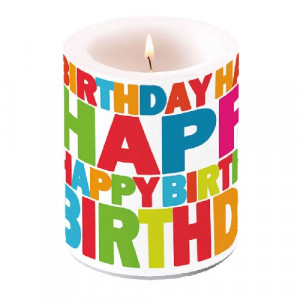 Duża Świeca Birthday