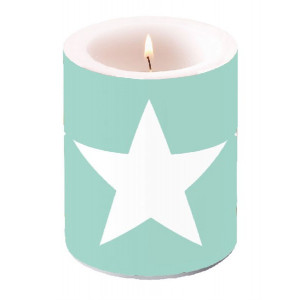 Duża Świeca Big Star Aqua