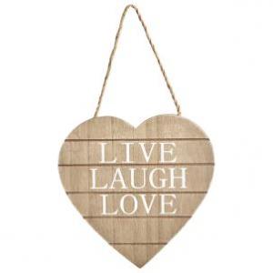 Drewniana Tabliczka Live, Laugh, Love