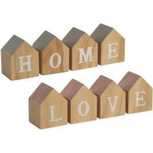 Klocki z Napisem Love/Home