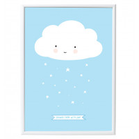 Plakat Cloud Blue A Little Lovely Company