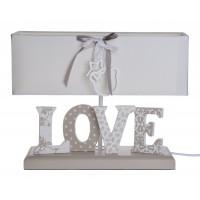 Lampka Beżowa z Napisem Love