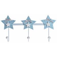 Wieszak błękitny gwiazdki