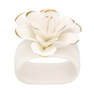 Obrączka / Pierścień Na Serwetkę Flower White Green Gate