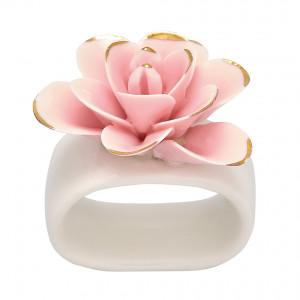 Obrączka / Pierścień Na Serwetkę Flower Pale Pink Green Gate