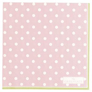 Papierowe Serwetki Spot Pale Pink Small Green Gate