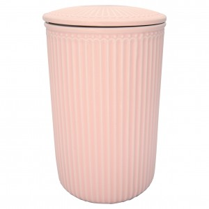 Ceramiczny Słoik Alice Pale Pink Large Green Gate