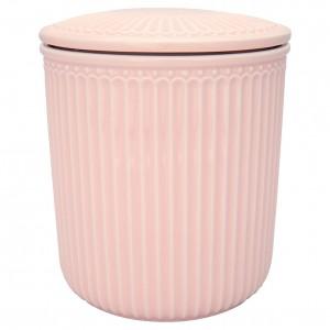 Ceramiczny Słoik Alice Pale Pink Medium Green Gate
