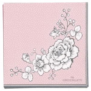 Papierowe Serwetki Ella Pale Pink Mini Green Gate