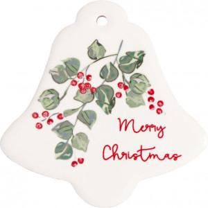 Magnesy Merry Christmas White Green Gate