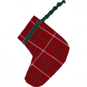 Skarpeta Świąteczna Na Prezenty Lyla Check Red 2 SZT Mała Green Gate