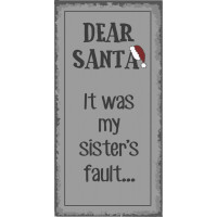 Magnes DEAR SANTA IT WAS MY SISTER'S FAULT Ib Laursen