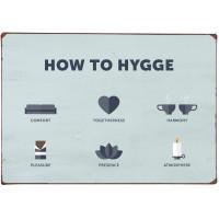 Metalowa Tabliczka How To Hygge Ib Laursen