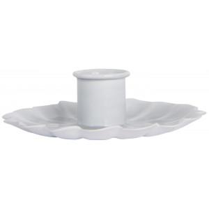 Świecznik Metalowy Biały Flower Ib Laursen