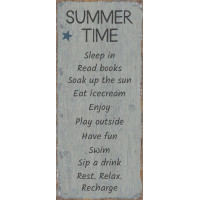 Drewniana Tabliczka Summertime Ib Laursen
