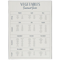 Metalowa Tabliczka Vegetables Seasonal Guide Ib Laursen