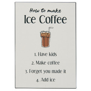 Metalowa Tabliczka How to make Ice Coffee Ib Laursen