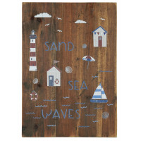 Drewniana Tabliczka Sand, Sea, Waves Ib Laursen