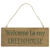 Drewniana Tabliczka Welcome To My Greenhouse Ib Laursen