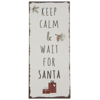 Metalowa Tabliczka Keep Calm & Wait for Santa Ib Laursen