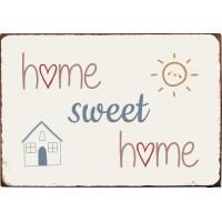 Metalowa Tabliczka Home Sweet Home Ib Laursen