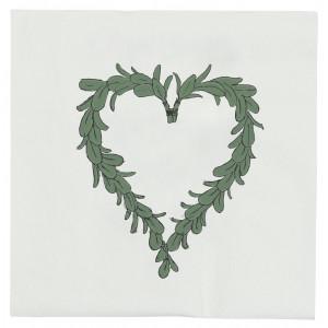 Papierowe Serwetki Heart Mistletoe Ib Laursen
